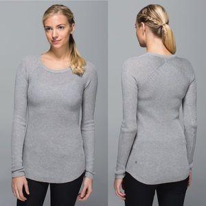 Lululemon Cabin Yogi Cashmere Knit Sweater LS Top